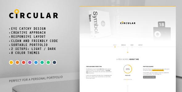 Circular - Personal Portfolio HTML Template