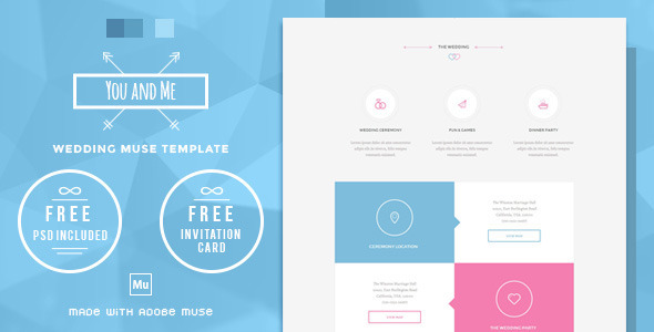You and Me - Wedding Muse Template - Personal Muse Templates