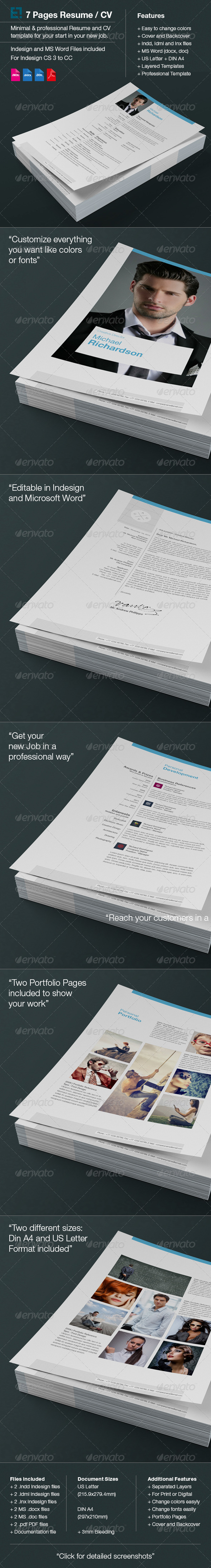 GraphicRiver Resume CV 6277007