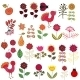 Fruits, Flowers and Birds Set - GraphicRiver Item for Sale