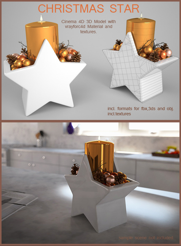 3DOcean Christmas Candle Star 6277016
