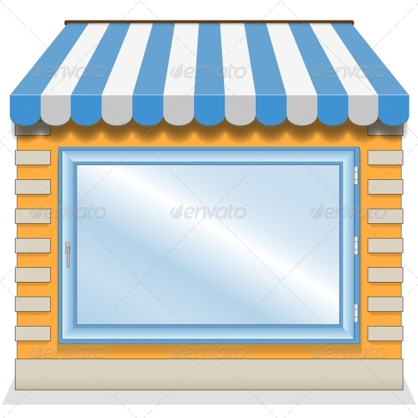 GraphicRiver Shop Icon with Blue Awnings 6277035