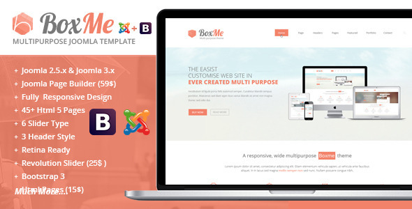 ThemeForest BoxMe Responsive Multipurpose Joomla Template 6277270