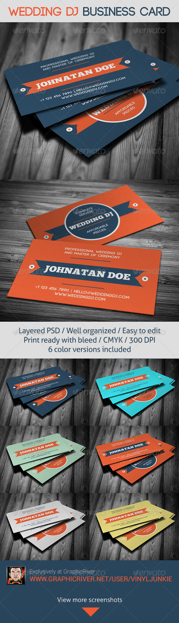 GraphicRiver Wedding DJ Business Card 6277272