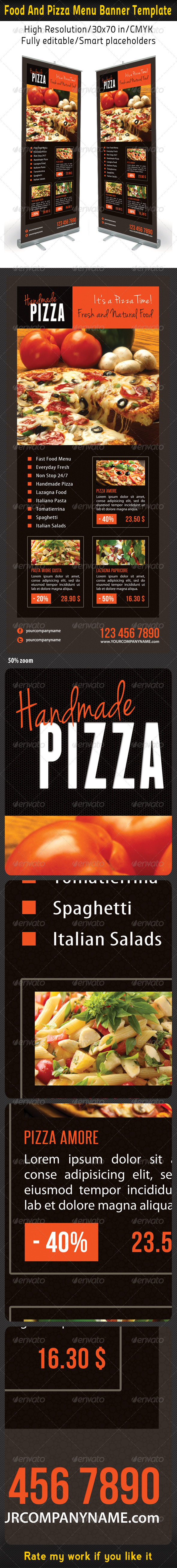 GraphicRiver Food And Pizza Menu Banner Template 07 6277312