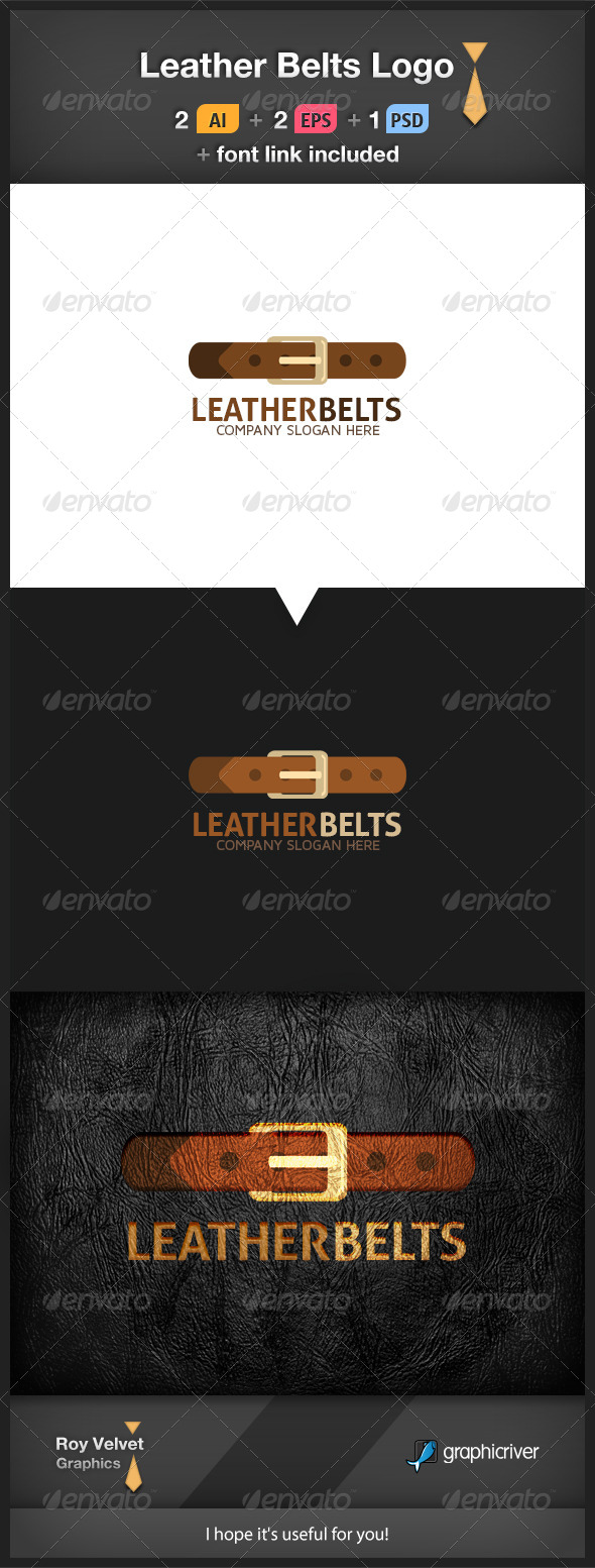 GraphicRiver Leather Belts Logo 6277332