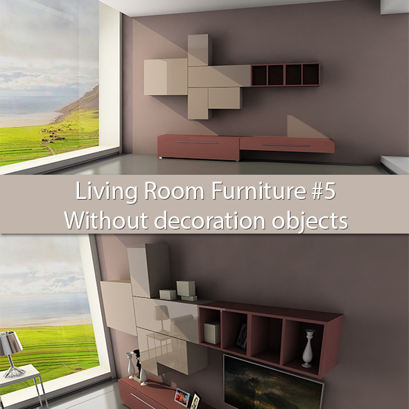 3DOcean Living Room Furniture #5 Without deco objects 6277673