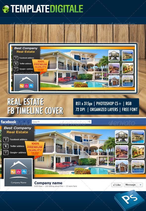 GraphicRiver Real Estate Facebook Timeline 6277761