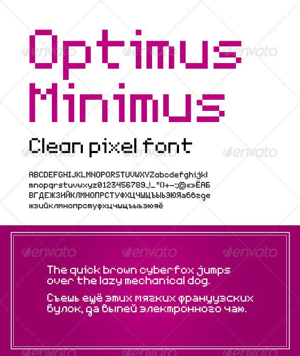 GraphicRiver Optimus Miniums Clean Pixel Font 6271047
