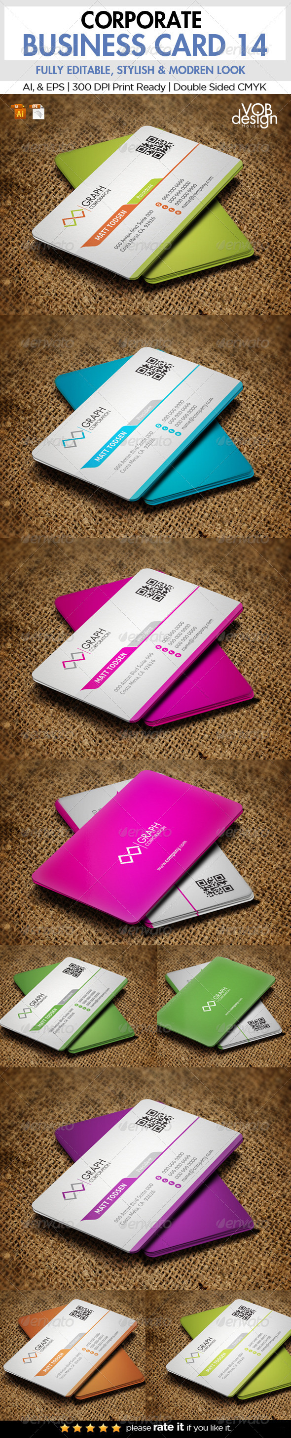 GraphicRiver Corporate Business Card 14 6277836