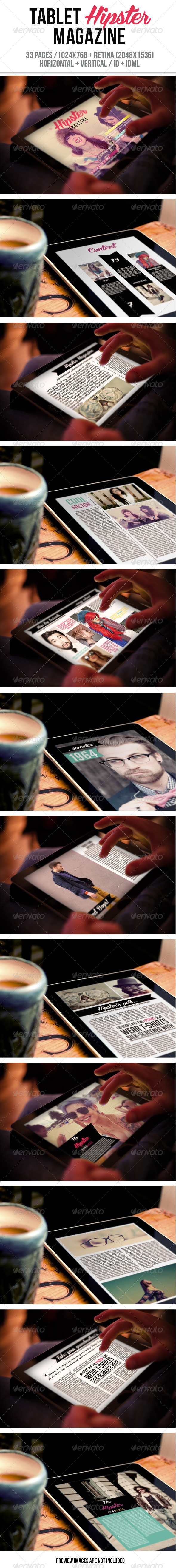 GraphicRiver Tablet Hipster Magazine 6278015