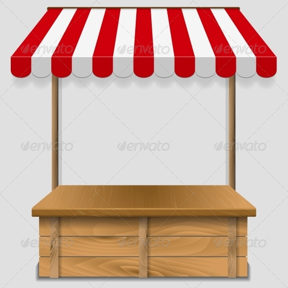 GraphicRiver Store Window with Striped Awning 6278378