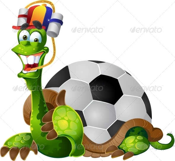 GraphicRiver Turtle Football Fan 6278408