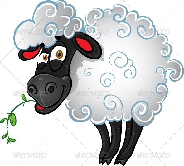 GraphicRiver Sheep with Blade of Grass 6278446
