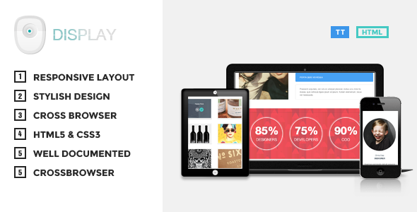 Display - Responsive HTML Theme - Creative Site Templates