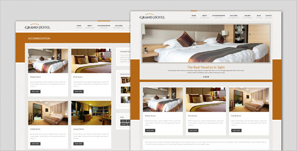Grand Hotel - Resorts Business HTML Template