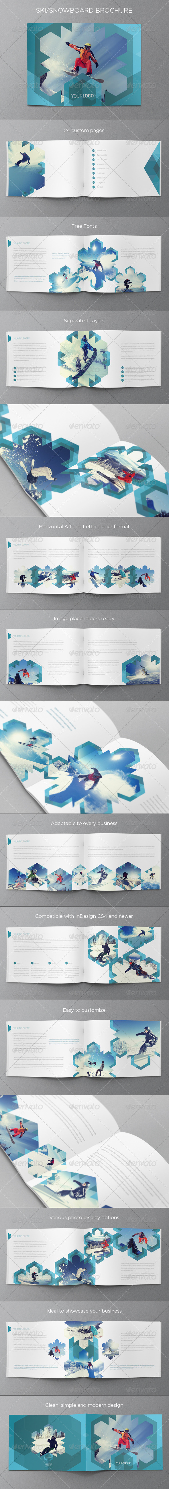 GraphicRiver Ski & Snowboard Winter Brochure 6278651