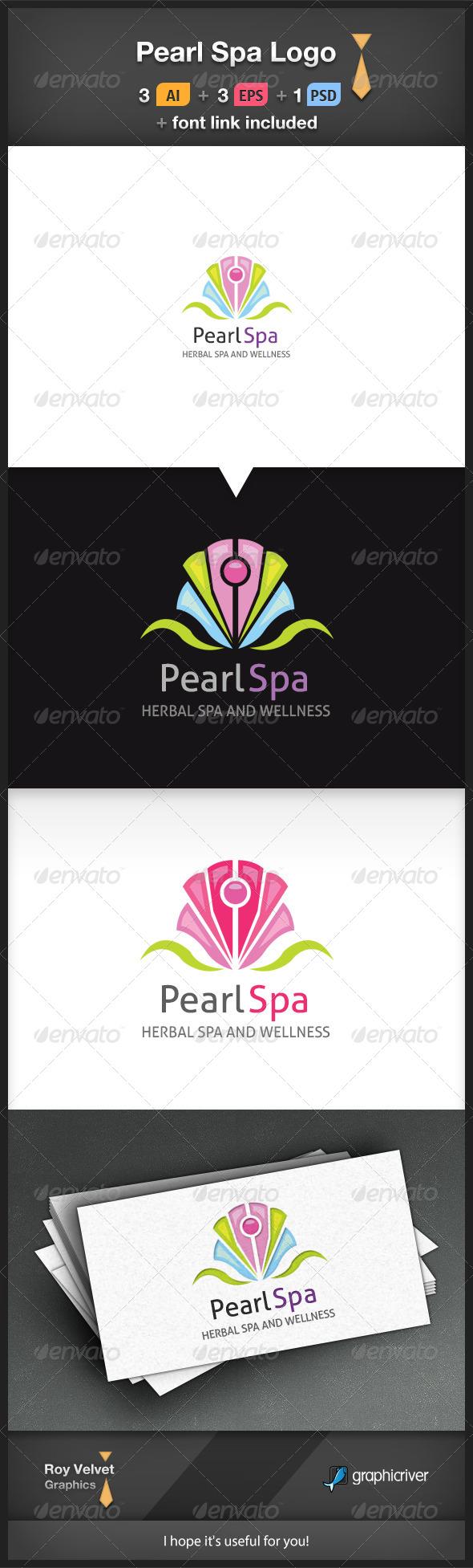 GraphicRiver Pearl Spa Logo 6278734