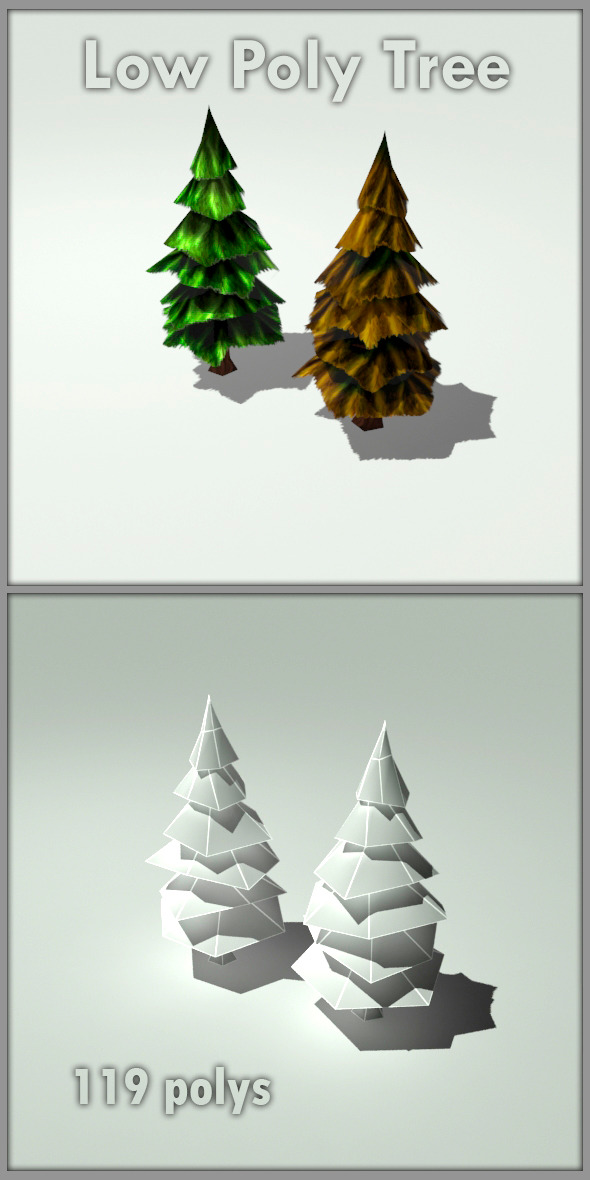 3DOcean Low Poly Trees 6278736