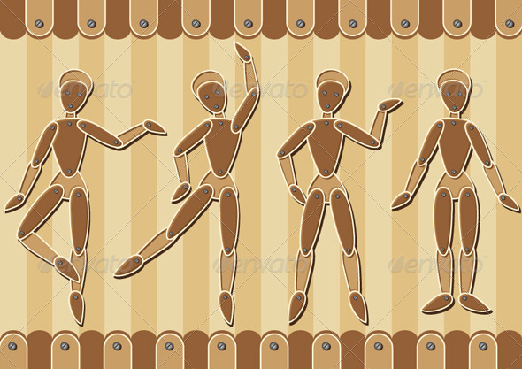 GraphicRiver Wooden Marionettes 6278756