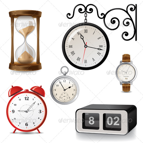 Clock Icons Graphicriver