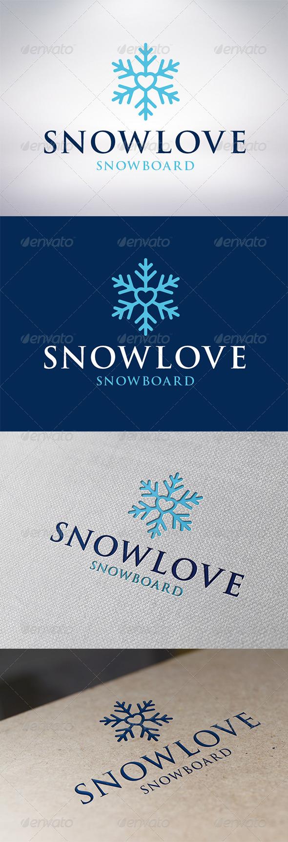 GraphicRiver Snow Love Logo Template 6279231