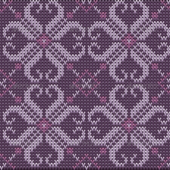 GraphicRiver Color Knitted Wool Pattern Background 6279481