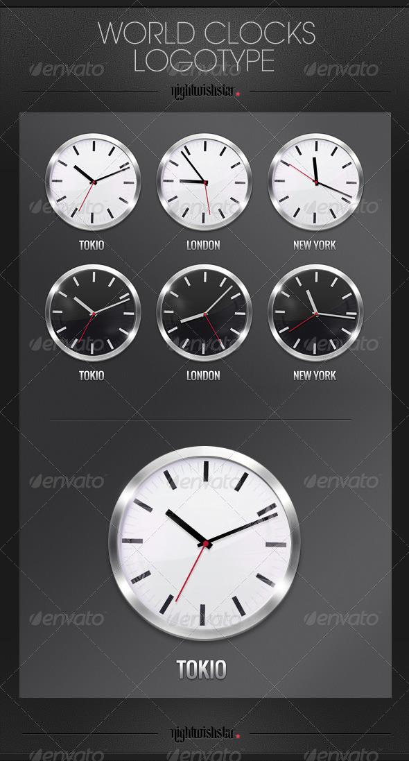 GraphicRiver World Clocks 6279488