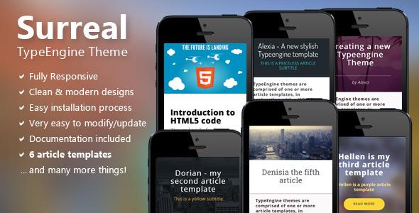 Surreal - Responsive TypeEngine Theme