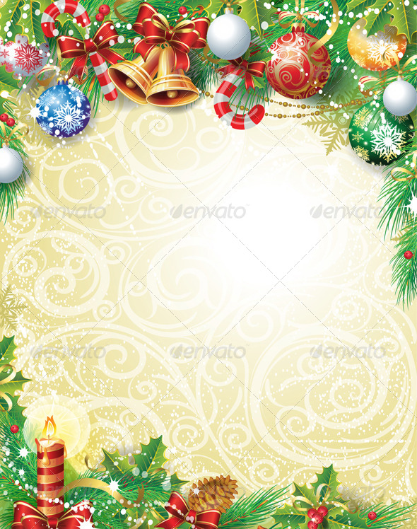 GraphicRiver Vintage Christmas Background 6280027