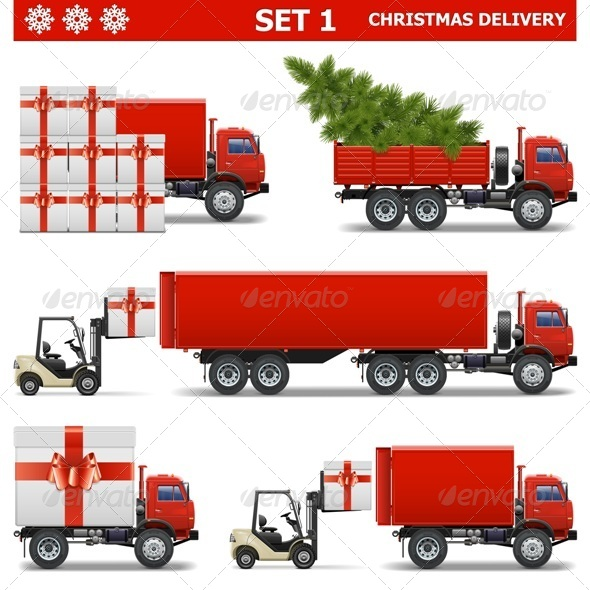 GraphicRiver Vector Christmas Delivery Set 1 6280090