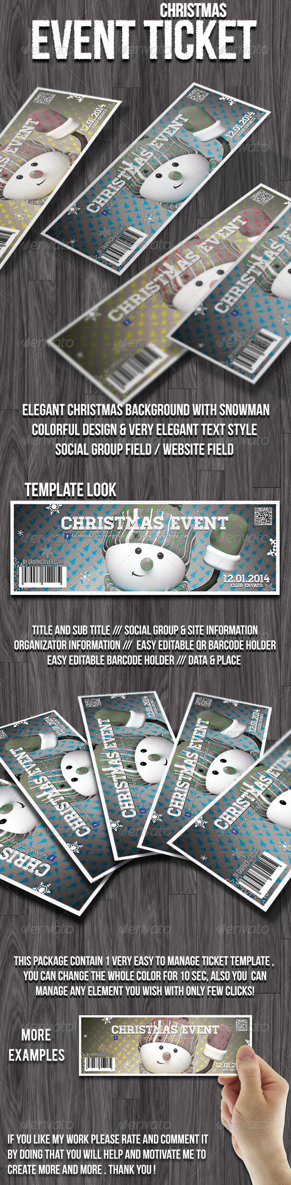 GraphicRiver Christmas event ticket 6280127