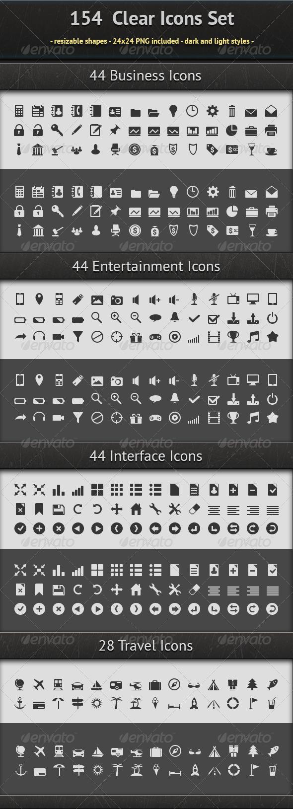 GraphicRiver 154 Icons Set 6280269