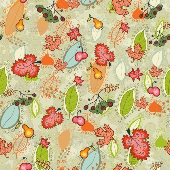Autumn Thanksgiving Floral Seamless