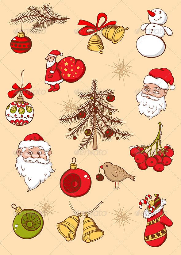 GraphicRiver Christmas Icons 6280664