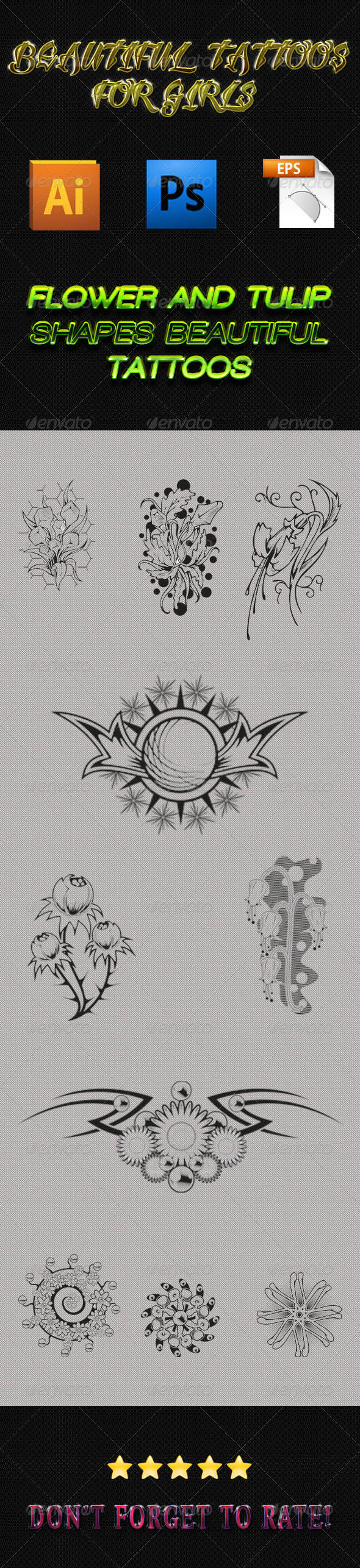 GraphicRiver Girls Tattoos 02 6273852