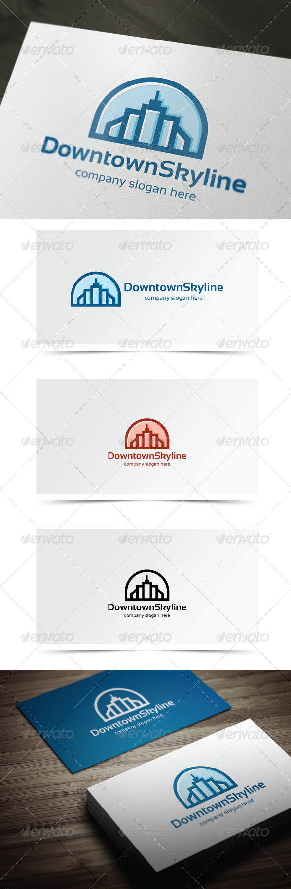 GraphicRiver Downtown Skyline 6280930