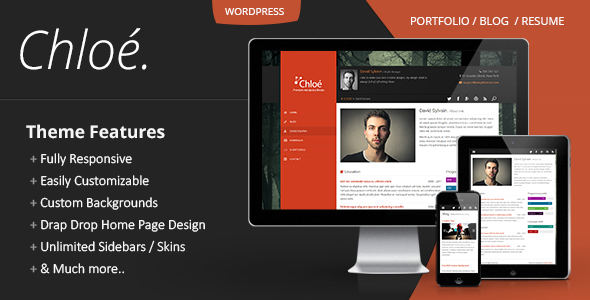 ThemeForest Chloe Personal Portfolio Wordpress Theme 6185247
