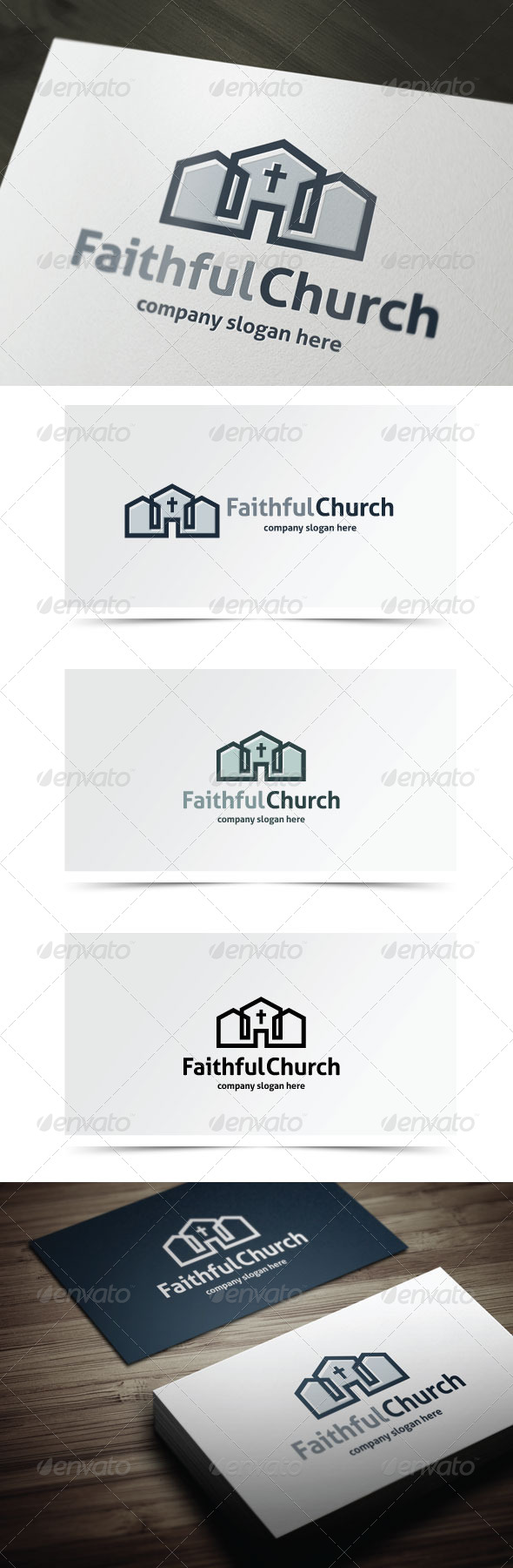 Faithful Church - Buildings Logo Templates