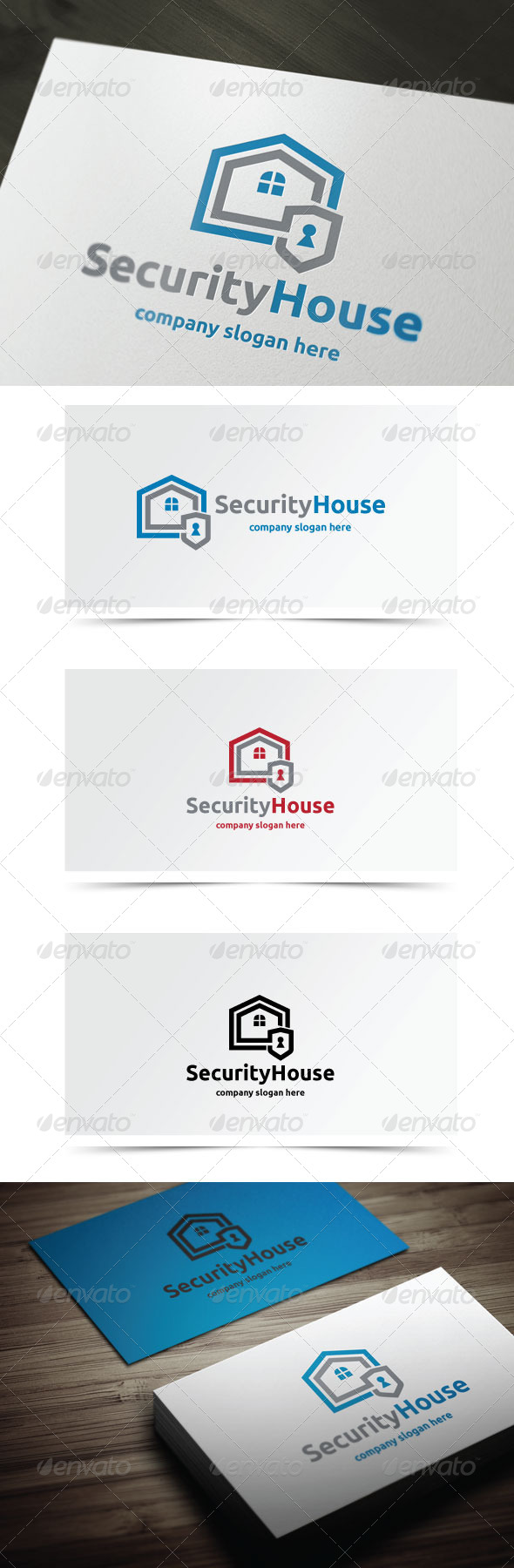 Security House - Buildings Logo Templates