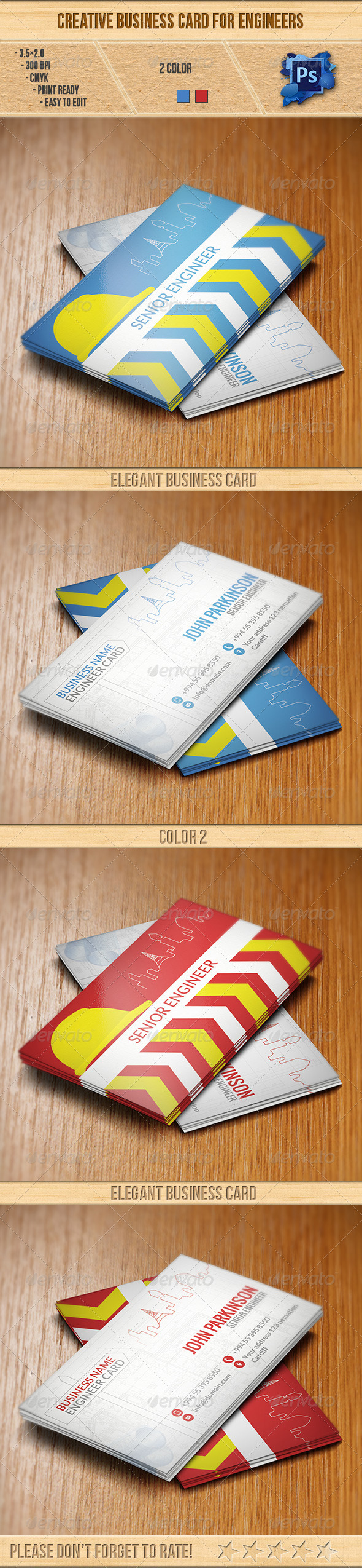GraphicRiver Creative Business Card for Engineers 6280978