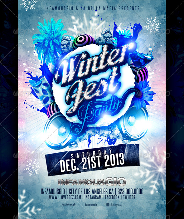 GraphicRiver Winter Fest Party 6246914