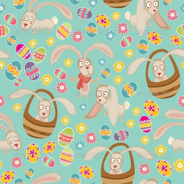 GraphicRiver Easter Pattern with Bunny 6281460
