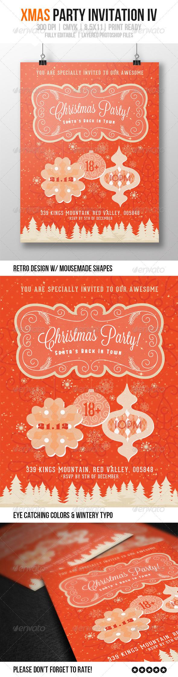 GraphicRiver xMas Party Invitation IV 6281334