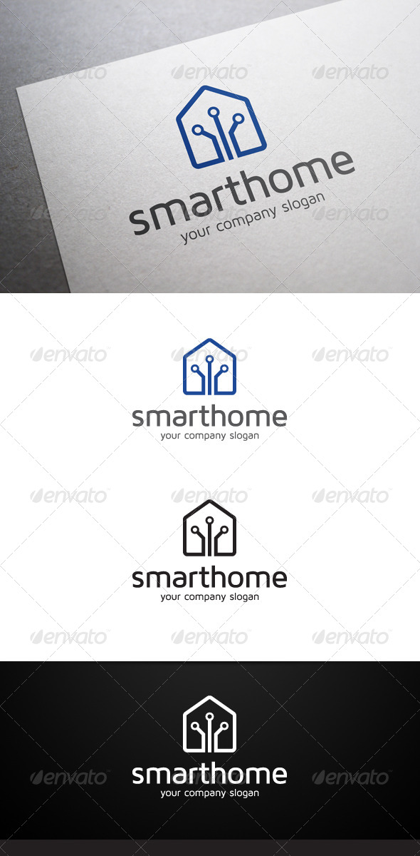 GraphicRiver Smart Home Logo 6282296