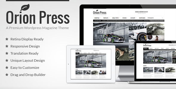 ThemeForest Orion Press Retina and Responsive Magazine Theme 6239233