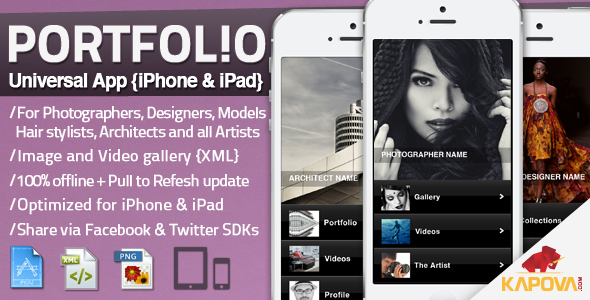 CodeCanyon Portfolio App for iPhone and iPad 6282388