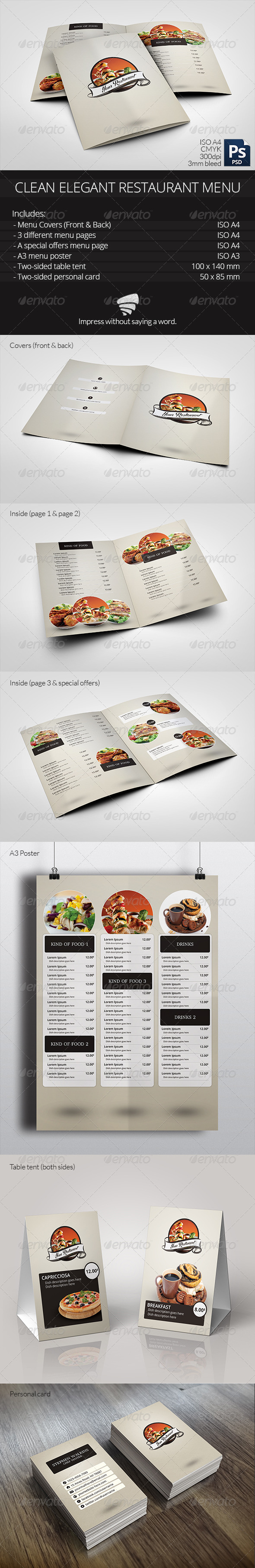 GraphicRiver Clean Elegant Restaurant Menu 6282689