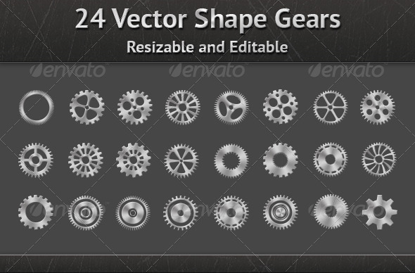 GraphicRiver Vector Shape Gears 6283610