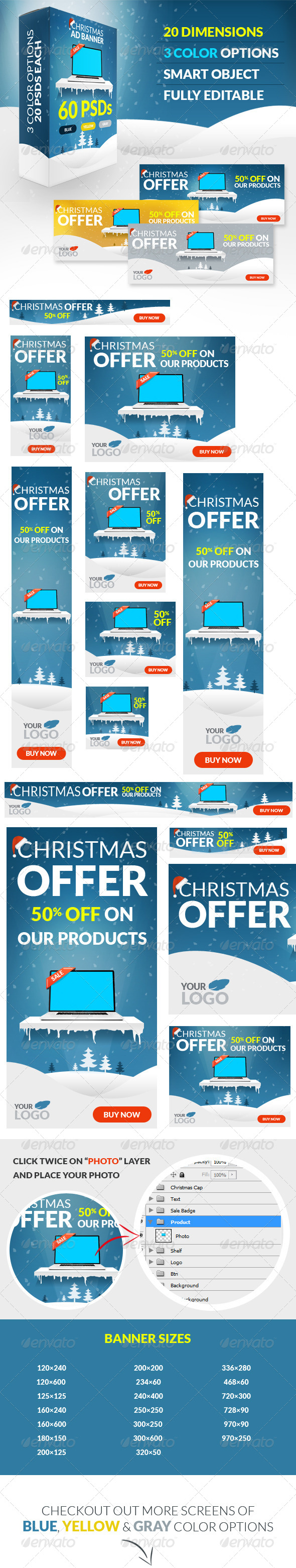 GraphicRiver Christmas Offer Ad Banners 6283626